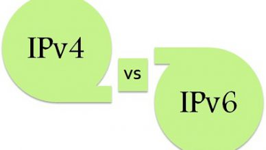 Difference between IPv4 & IPv6